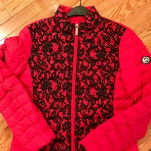 Michael Kors jacket red and black lace